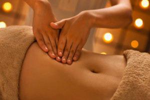 Close-up view of young woman undergoing massage